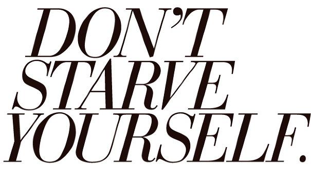 how to make myself starve