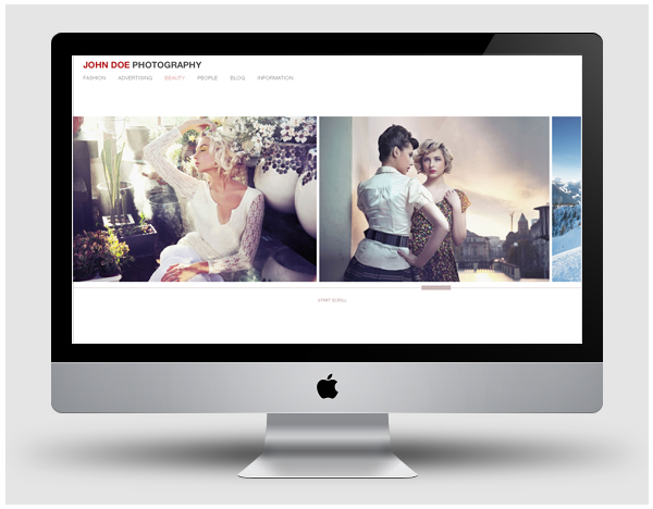 Free Portfolio Template For Fashion And Commercial Photographers - Photography portfolio template