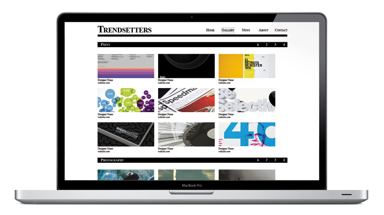 Trendsetters template bespoke creative for Cargo collective templates